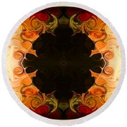 Earthly Undecided Bliss Abstract Organic Art By Omaste Witkowski Round Beach Towel