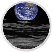 Earthrise Round Beach Towel