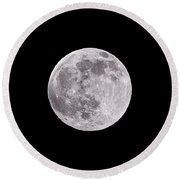 Earth's Moon Round Beach Towel