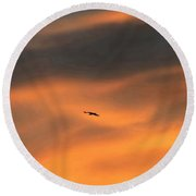 Round Beach Towel featuring the photograph Ease Into The Night by John Glass