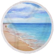 East Beach I Round Beach Towel