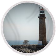 East Coast Lighthouse Round Beach Towel
