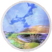 East Cooper Round Beach Towel