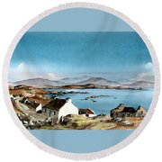 East End, Inishboffin, Galway Round Beach Towel
