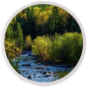 East Fork Autumn Round Beach Towel