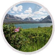 Round Beach Towel featuring the photograph East Glacier National Park by Margaret Pitcher