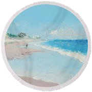 East Hampton Beach Round Beach Towel
