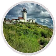 East Point Lighthouse Round Beach Towel