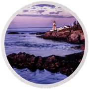 East Quoddy Head, Canada Round Beach Towel