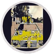 East Side Electric Round Beach Towel