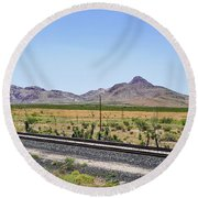 East To West Round Beach Towel