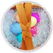 Easter Basket Round Beach Towel