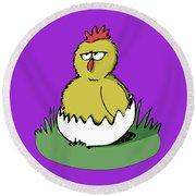 Easter Chicken Round Beach Towel