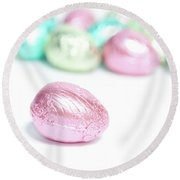 Easter Eggs II Round Beach Towel