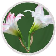 Easter Lilies Round Beach Towel