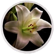 Easter Lily Three Round Beach Towel