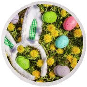 Round Beach Towel featuring the photograph Easter Morning by Teri Virbickis