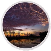 Easter Sonrise Round Beach Towel