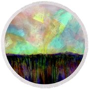 Easter Daybreak Round Beach Towel