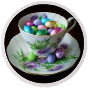 Easter Teacup Round Beach Towel by Robert ONeil