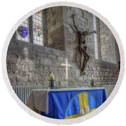 Round Beach Towel featuring the photograph Easter  The Resurrection Of Jesus by Ian Mitchell