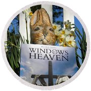 Easter Week Windows From Heaven Round Beach Towel