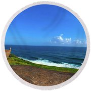 Eastern Caribbean Round Beach Towel