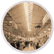 Round Beach Towel featuring the photograph Eastern Market  by John S