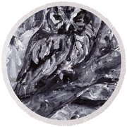 Eastern Screech-owl Round Beach Towel