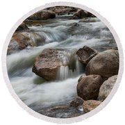 Round Beach Towel featuring the photograph Easy Flowing by James BO Insogna