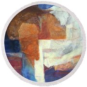 Ebb And Flow Round Beach Towel by Lynne Reichhart