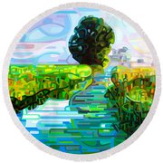 Ebb And Flow Round Beach Towel