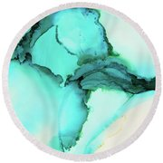Ebb And Flow Round Beach Towel by Tracy Male