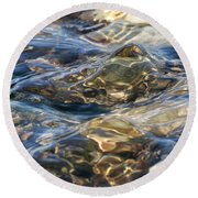 Round Beach Towel featuring the photograph Ebbing Tide 1 by William Selander