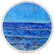 Ebbing Tide Round Beach Towel by Regina Valluzzi