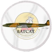 Ec-121r Batcat 553 Round Beach Towel by Arthur Eggers
