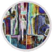 Eccentric Spirit Round Beach Towel by Tlynn Brentnall