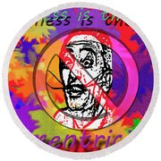 Eccentricity Round Beach Towel by Lisa Brandel