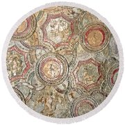 Echoes Of Pompeii Round Beach Towel