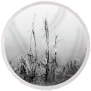Echoes Of Reeds 1 Round Beach Towel