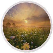 Echos The Sound Of Silence Round Beach Towel by Phil Koch