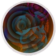 Eclectic Soul Zone Round Beach Towel