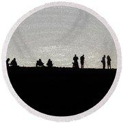 Eclipse Round Beach Towel