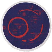 Eclipse Round Beach Towel