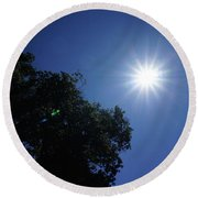 Eclipse Light Prism Round Beach Towel
