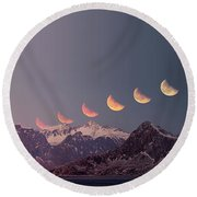 Eclipse Panorama Round Beach Towel