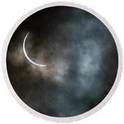 Eclipsed Crescent IIi Round Beach Towel