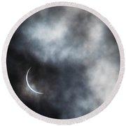 Eclipsed Crescent II Round Beach Towel