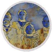 Ectoplasma 2 Round Beach Towel by Cynthia Powell