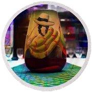 Round Beach Towel featuring the photograph Ecuadorian Vase Art by Al Bourassa